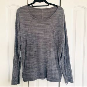 Lululemon | Gray Long Sleeve Workout Top